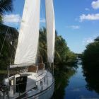 Our Sail Boat in our Canal