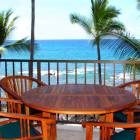 Lanai View from Top Floor  Solid Teak Furniture