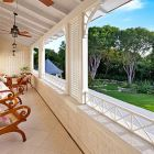 Relax with a Morning Coffee on the Master Suite Private Terrace with Views of the Grounds and Pool