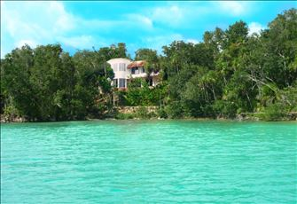 Maya Cala Villa Lake Front Jewel in the Jungle on It's Own Tranquil Private Cove