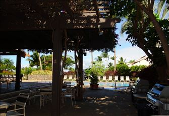 Nice and Shady for Dining in the Daytime; Lower Bbq Pool Area