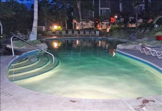 Upper Pool at Night