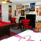 Games Room with Pool Table, Foosball, Air Hockey, Darts and Playstation, Tv, Stereo...
