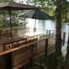 The Lakeside Deck is a Great Place to Dine.