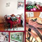 Various Traditional Objects and Handmade Artwork