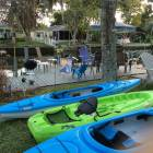 3 Adult Kayaks Included, Photo of & Mermaid Bungalow Next Door W/ Shared Sandy Kayak Ramp.  Variety of Kayak &Color W/Availability