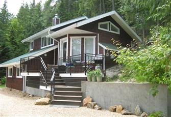 Cabin -  Shuswap Lake, Bc  off Trans Canada Highway, East of Salmon Arm.