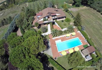 Villa with Pool, View of
