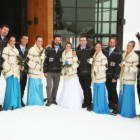 And Here are the Bridesmaids with the Groomsmen.