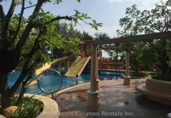 The Seaside Condominium - Pool Slides