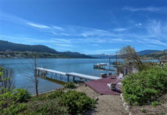 House and Dock on Okanagan Lake
