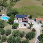 Aerial View of Villa, Pool and Garages