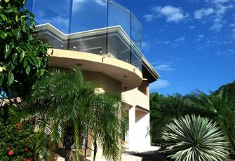 Large Home with Amazing Views of Balanos Bay and Volcanoes