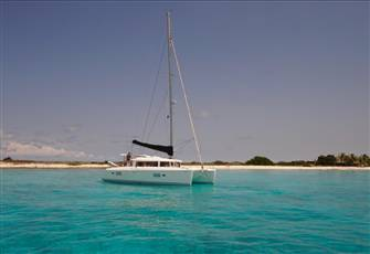 Catamaran Sailing the Caribbean