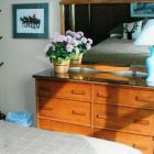 Maple Chest of Drawers, Coat Rack, Chair & View
