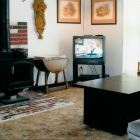 "Wood Burning Stove, DVD &  27""TV is Larger than"