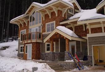 This Chalet at Sun Peaks is an architecturally distinctive home.