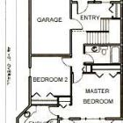 Main Floor Plan with Master and Second Bedroom