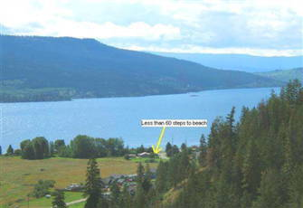 3 Bedroom/2 Bath Room, Semi Lake Front Okanagan Rental Home: 1300 sq. ft.