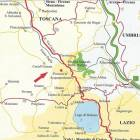 Location at the Border of Tuscany/Lazio and Umbria