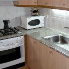 Kitchen with Gas Cooker, Electic Oven and Microwave