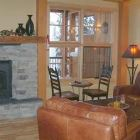 Cozy Living Room with Gas Fireplace.  Looks out to Mountains