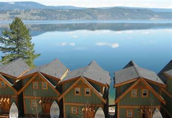 West Kelowna Lakefront Cottages with Private Deck, Rowboat, and Boat Dock