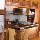 Kitchen with American  Bar