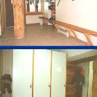 Common Foyer with Glove Rack, Bench and Drying Room.