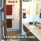 3-room Bathroom:Toilet Rm / Shower Rm / Vanity Rm