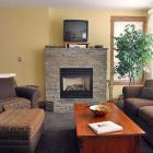 The Living Room has a Gas Fireplace, Private Wifi Network, Cable Tv and Views of Silver Queen and the Valley Below.