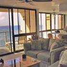 Living Room Leads to Spacious Lanai (Watch Surfers).