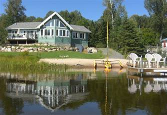 New Executive Private Cottage on Stunning Lake with its Own Private Beach & Dock