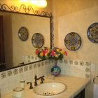 Handpainted Tilework in both Bathrooms