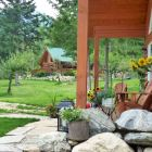 Front Porch - Guest Cabin is Situated on Large Open Property in Garden-like Setting