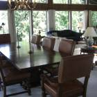 Dining Table - with 8 Leather Chairs is Part of the First Floor Great Room.
