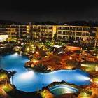 The Amazing Lazy River Pool at Night