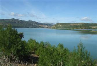 Lakefront House in Iznajar in Andalucia.