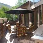 Main Level Bacony Deck with Patio Table and Gas Bbq