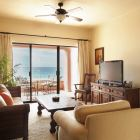 Living Room with Head on Ocean View, Flat Screen TV, Media Cabinet