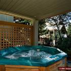 Relax in your Own Private Hot Tub Just off the Bedroom with the Two Twin Beds