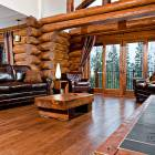 Lounge with Log Fireplace