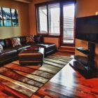 Living Room - Comfortable Sectional and Balcony Access.  Enjoy the 42&Quot; Lcd with DVD, Bluray and Hd Cable.