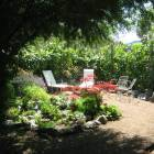 Secret Garden - Looking Towards the Grape Vines.  This is a Peaceful Space Waiting for Contemplation, Or a Quiet Conversation.