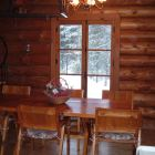 Rustic Log Dining Room