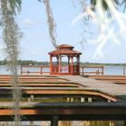 The Lake - Boardwalk at the Lake Towards the Gazebo.  a Great Seating for a Sunset View