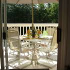 Gorgeous, Private Upper Level Balcony off the Mbr for your Morning Coffee, Or an Evening Dinner!  BA - Wooded Views, Table, Chairs