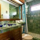 2nd Floor North Bathroom - Colorful Native Tiles & Hand Painted Sink