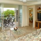View from the Dining Area to the Living Room, Lanai and Oceanfront Bedroom.