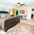 "Lavishly Appointed Master Bedroom - with 46"" Wall Mounted TV. Master Bath En Suite"